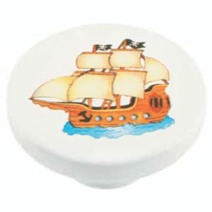 Buton rotund Sedef, model ship, plastic, 40 mm
