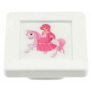 Buton patrat Sedef, model princess, plastic, 40 x 40 x 19 mm