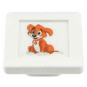 Buton patrat Sedef, model dog, plastic, 40 x 40 x 19 mm