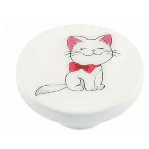 Buton rotund Sedef, model Cat, plastic, 40 mm