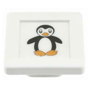 Buton patrat Sedef, model penguin, plastic, 40 x 40 x 19 mm