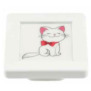 Buton patrat Sedef, model cat, plastic, 40 x 40 x 19 mm