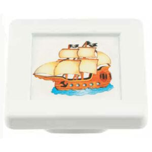 Buton patrat Sedef, model ship, plastic, 40 x 40 x 19 mm