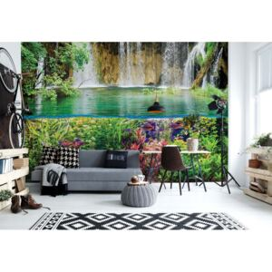Fototapet GLIX - Jungle Waterfall + adeziv GRATUIT Tapet nețesute - 206x275 cm