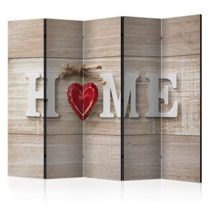 Bimago Paravan - Room divider - Home and red heart 225x172cm