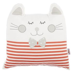 Pernă din amestec de bumbac pentru copii Mike & Co. NEW YORK Pillow Toy Big Cat, 29 x 29 cm, roșu