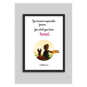 Tablou North Carolina Scandinavian Home Decors Little Prince Quote V8, 33 x 43 cm