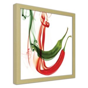 CARO Imagine în cadru - Abstract Chilli Peppers Natural 20x20 cm