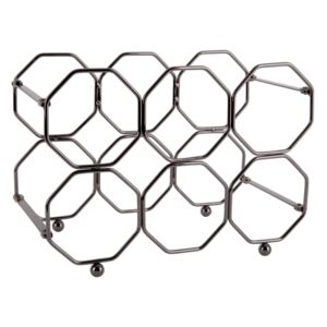 Suport pliabil din metal pentru sticle de vin PT LIVING Honeycomb, gri