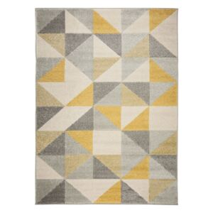 Covor Flair Rugs Urban Triangle, 100 x 150 cm, gri - galben