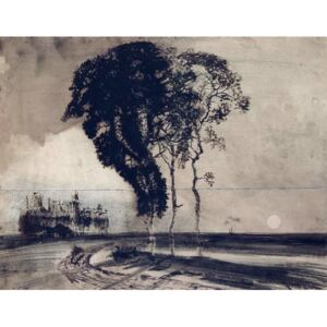 Landscape with Three Trees, 1850 Reproducere, Victor Hugo
