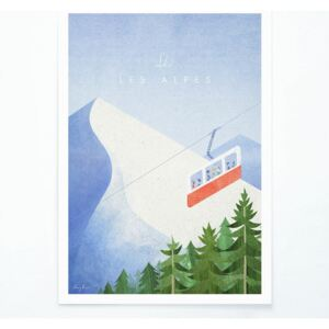 Poster Travelposter Les Alpes, A3