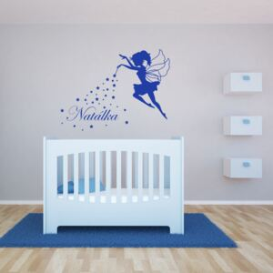 GLIX Magic Fairy - autocolant de perete Albastru 90 x 70 cm
