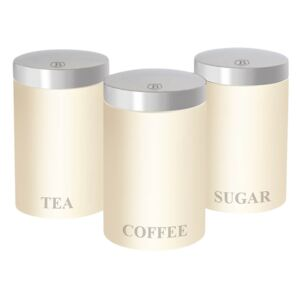 Set 3 recipiente pentru cafea, ceai si zahar Ebony Maple Collection Berlinger Haus BH 1353