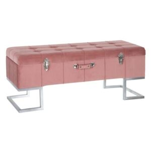 Bancheta textil roz Bench Chest Pink