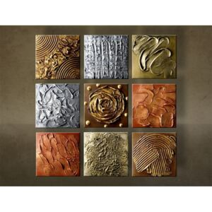 >In stoc< Tablouri pictate manual Reducere 13 % ABSTRACT 9 piese 60x60 cm NU0039E9/24h ()