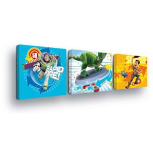GLIX Tablou - Disney Toy Trio 3 x 25x25 cm