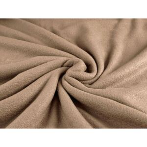 Goldea polar fleece antipilling - metraj lătime 150 cm - maro deschis 150 cm