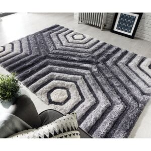 Covor Flair Rugs Hexagon Grey, 80 x 150 cm, gri