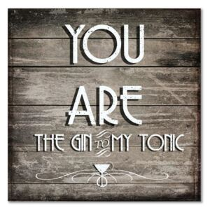 Deco Panel CARO - You Are The Gin 30x30 cm