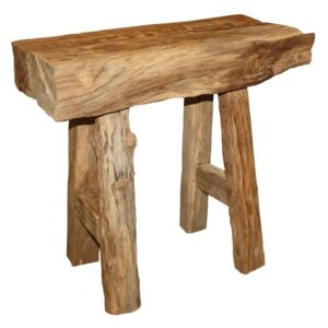Taburet din lemn de tec HSM Collection Rustic