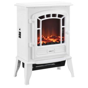 Fire Semineu electric AASL-6202, 39 x 24 x 56,5 cm, 1000 / 2000W, plastic, metal, sticla, alb