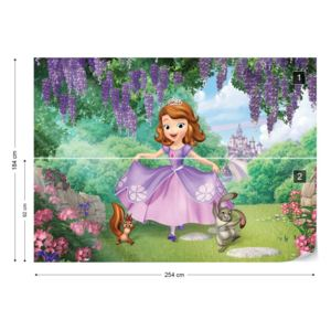 Fototapet - Disney Sofia the First Vliesová tapeta - 254x184 cm