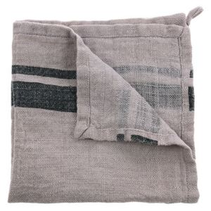 Set 2 servetele gri din in 45x45 cm Striped Linen HK Living