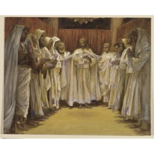 Christ with the twelve Apostles, illustration for 'The Life of Christ', c.1886-96 Reproducere, James Jacques Joseph Tissot