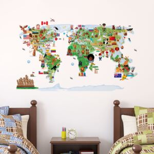 Autocolant de perete Ambiance Ethnic World Map