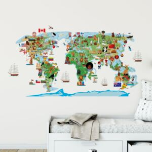 Autocolant de perete Ambiance World Map Discovery