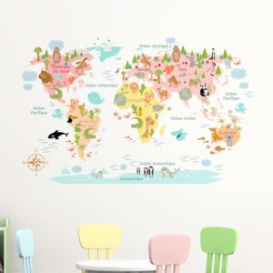 Autocolant de perete Ambiance Baby World Map