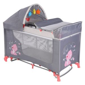 Pat pliant Moonlight Rocker 2 nivele Pink & Grey My Baby