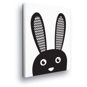 GLIX Tablou - Cartoon Bunny in Black 40x40 cm