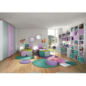 Dormitor complet Complete bedroom Eresem C113 Colombini home modern and colorful