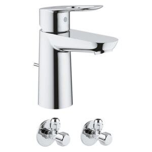 Pachet baterie lavoar Grohe Bauloop S (23335000), 2 x robineti coltar izolare Grohe (22018000)