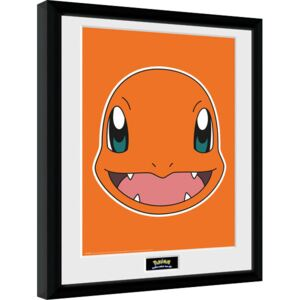 Afiș înrămat Pokemon - Charmander Face