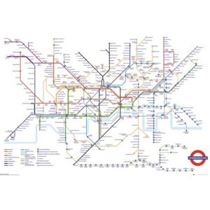 Transport For London - Underground Map Poster, (91,5 x 61 cm)