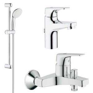 Pachet promo baterii baie 3 in 1 Grohe Bauflow S (23751000,23756000,27853001)