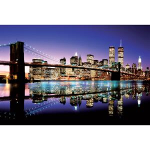 Brooklyn bridge - colour Poster, (91,5 x 61 cm)