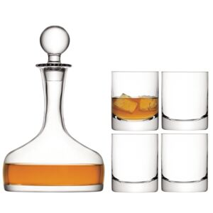 Set cadou Whisky LSA , 4 pahare (250 ml), carafă (1,6 l), transparent, Handmade