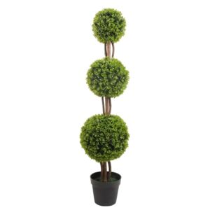 Buxus artificial, tulpina naturala cu 3 bile