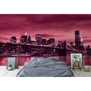 Fototapet GLIX - City Brooklyn Bridge New York 2 + adeziv GRATUIT Tapet nețesute - 250x104 cm
