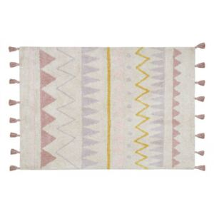 Covor dreptunghiular multicolor din bumbac 120x160 cm Azteca Natural-Vintage Nude Lorena Canals