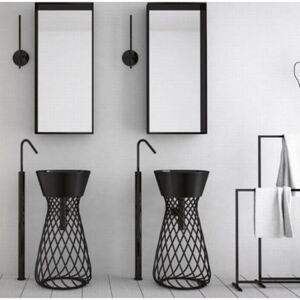 Chiuveta baie Wire Freestanding Black Basin W3