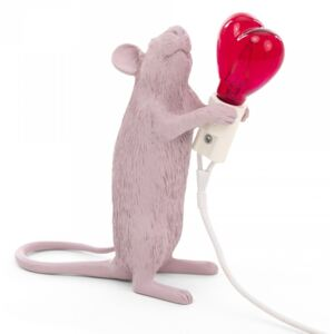 Lampa roz 6,2×8,1cm Mouse Love Edition Seletti