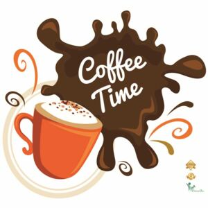 Stickere decorative cafea - Coffee time - 60x55 cm
