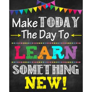 Autocolante Motivationale - Make today the day to learn something new! - 77x100 cm