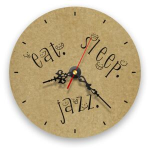 Ceas de perete - Eat, Sleep, Jazz