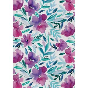 Ilustrare Loose pink floral watercolour repeat, Laura Irwin